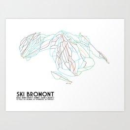 Ski Bromont, QC, Canada - Minimalist Trail Art Art Print