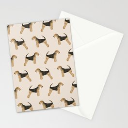 Airedale Terrier pattern dog breed cute custom dog pattern gifts for dog lovers Stationery Cards