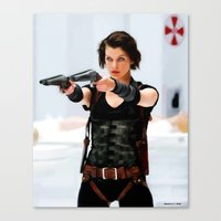 resident evil Canvas Prints featuring Milla Jovovich @ Resident Evil by Gabriel T Toro
