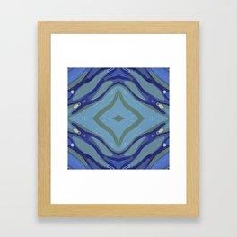 Blue Wave Nautical Medallion Framed Art Print