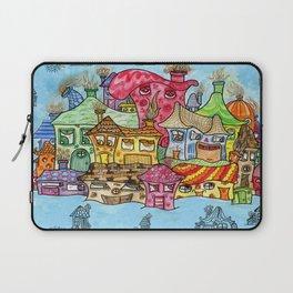 Suburbia USA Watercolor Laptop Sleeve