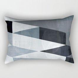 blue abstract, abstract art, office art, contemporary art, geometric print, modern painting, mid cen Rectangular Pillow
