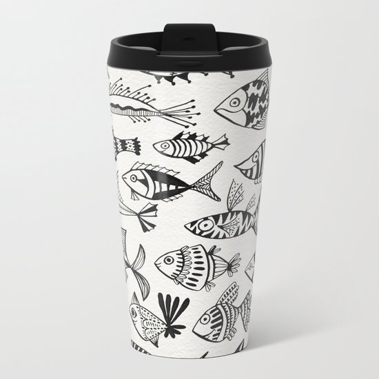 Inked Fish Metal Travel Mug
