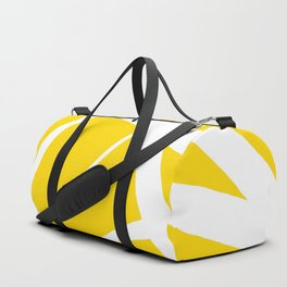 Sunshine Yellow w/ White Star Abstract Duffle Bag