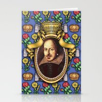 shakespeare Stationery Cards featuring William Shakespeare by Glenn Designs