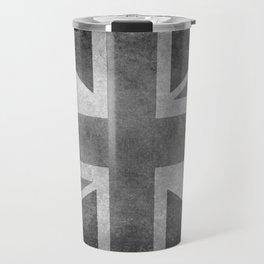 British Union Jack flag 1:2 scale retro grunge Travel Mug