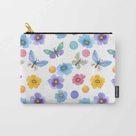 Spring . Butterfly . Carry-All Pouch