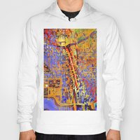 chicago Hoodies featuring chicago by donphil
