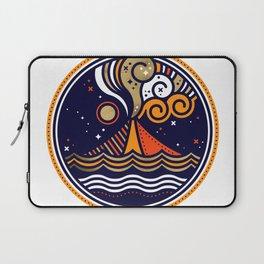 La Vita è Bella – Mediterranean Volcano in Fire Palette Laptop Sleeve