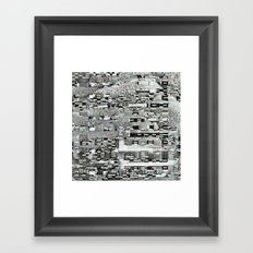 Highly Resolved Ghost (P/D3 Glitch Collage Studies) Framed Art Print