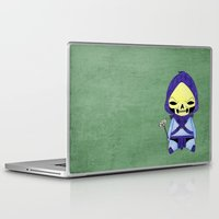 skeletor Laptop & iPad Skins featuring A Boy - Skeletor by Christophe Chiozzi