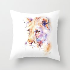 Patience . Lion Throw Pillow
