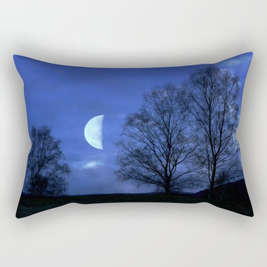 Moon between Trees  - JUSTART © Rectangular Pillow
