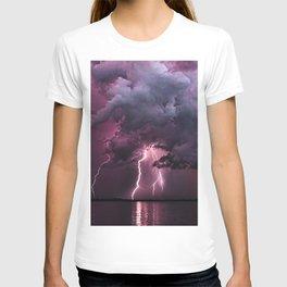 Lightening Strike in Purple Storm T-shirt
