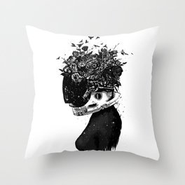 Hybrid girl Throw Pillow