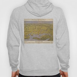Vintage Pictorial Map of Virginia (1861) Hoody