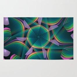 Tumbling patterns, fractal abstract art Rug
