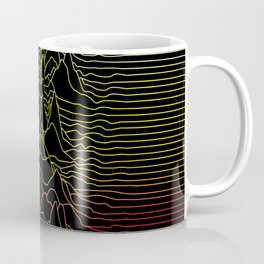 rainbow illustration - sound wave graphic Coffee Mug