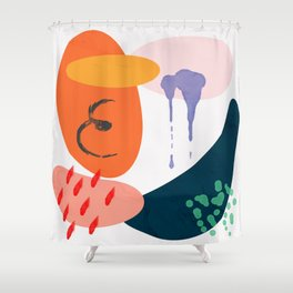 abstract dripping Shower Curtain