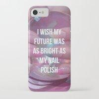 nail polish iPhone & iPod Cases featuring Nail Polish by ewwidc