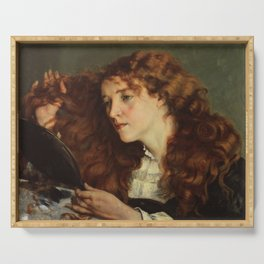 Gustave Courbet - Portrait of Jo, the Beautiful Irish Girl Serving Tray