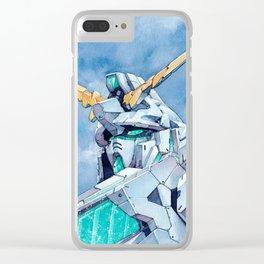 Unicorn Gundam Green Psycho-frame Clear iPhone Case