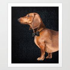 Elegant dachshund. Art Print