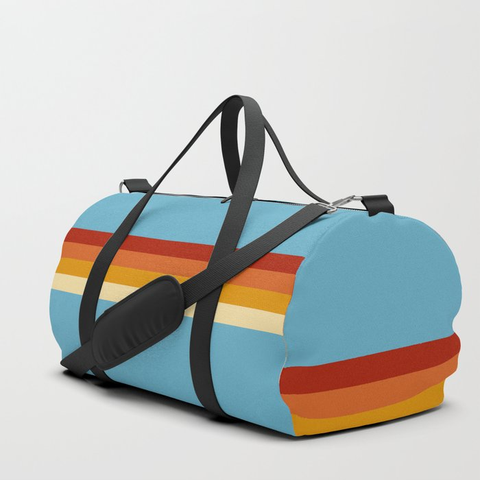 Losna - Classic Retro Summer Stripes Duffle Bag