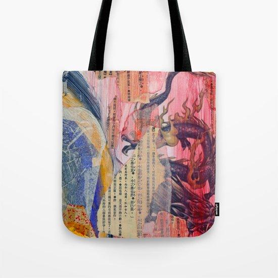 Collage Love - Zhong Long Tote Bag
