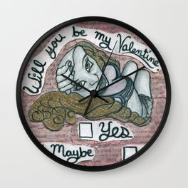 Will you be my valentine? Wall Clock