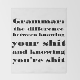 Grammar: The Difference Between Your and You're Throw Blanket