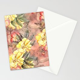 Pretty Yellow #floral #watercolor Stationery Cards