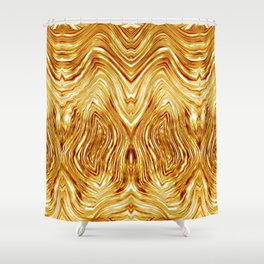 Abstract Gold/Tiger Pattern 2 Shower Curtain