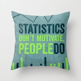 motivate Throw Pillow