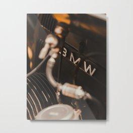 Old motorbike logo, vintage motocycles, bokeh effect, garage, man cave, german motorcycle, man gift Metal Print