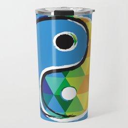 Geometric Galaxy - All the Colors of the Rainbow Travel Mug