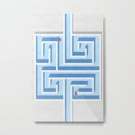 Water Maze Metal Print