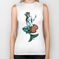 mermaid Biker Tanks featuring mermaid by LaDa