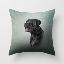 Drawing dog Cane Corso - Italian Mastiff Throw Pillow