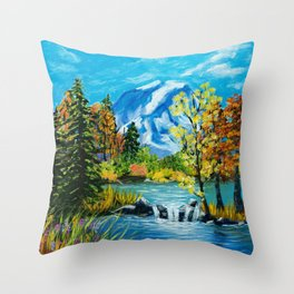 Mt. Rainier Beauty Throw Pillow