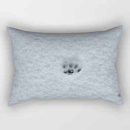 Only one paw out the door Rectangular Pillow