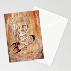 Bunny Rocket Stationery Cards