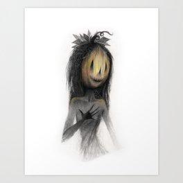 Jack o Lantern Witch Art Print