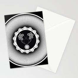 Art Nouveau Flower Stationery Cards