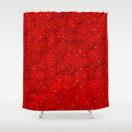 red daisy flowers Shower Curtain