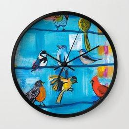 Bird Celebration Wall Clock