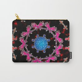 Alien Gemstone Mandala With Red Plasma Carry-All Pouch