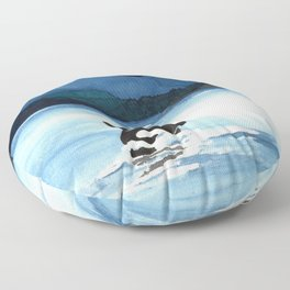 Orca Breach Floor Pillow