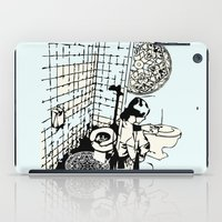 toilet iPad Cases featuring TOILET CLEANING by Sofia Youshi