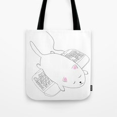 Cat Sleeping Tote Bag